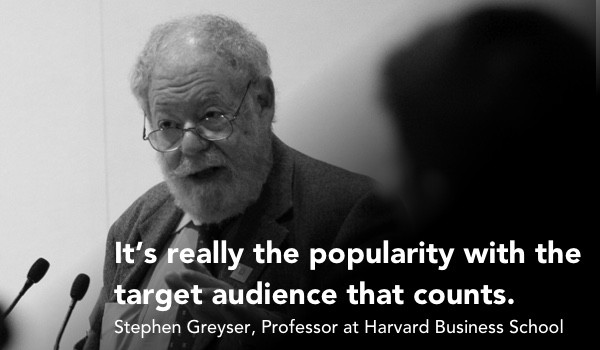 Harvard Professor, Stephen Greyser, Small Business Brand Quote